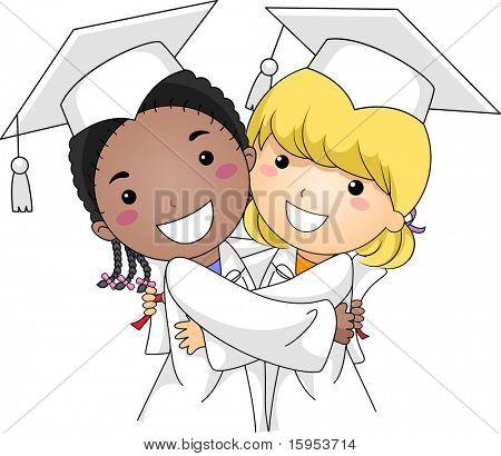 Illustration of Kids Hugging Each Other