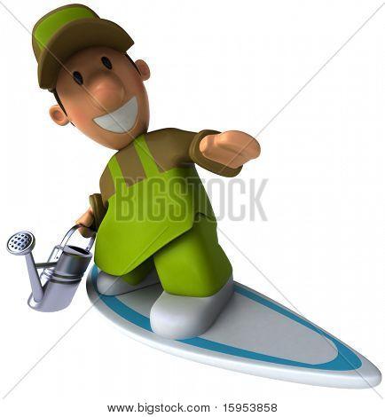 Gardener and surf