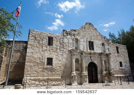 The Alamo in San Antonio Texas where the famous battle for Texas independence against Mexico took place in 1836.