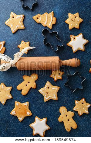 Baking christmas cookies holiday. Seasonal sweet food
