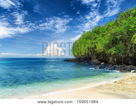 Tropical Beach. Padangbai, Bali, Indonesia
