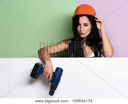 Pretty Cute Sexy Builder Girl