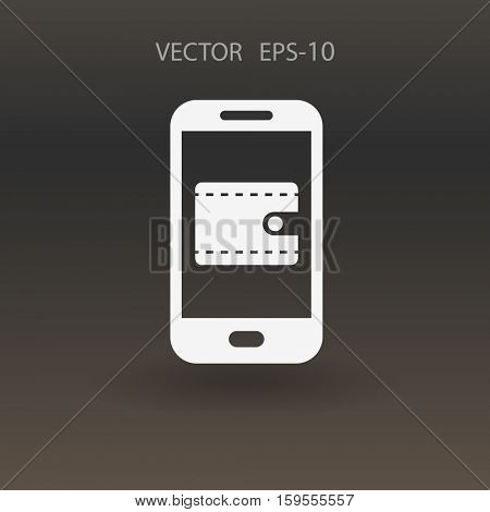Online shopping icon. vector illustration