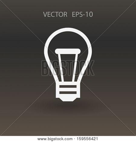 Flat icon of idea. vector illustration