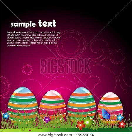 funky vector easter egg design