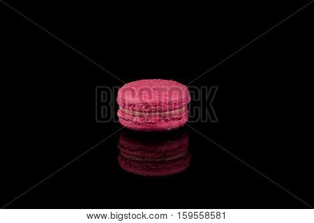 Colorful Macaroon Over Black Background