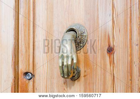 WOODEN door handle in HAND FORMAT architectural details