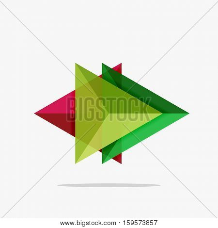 Blank triangle layout business template, infographic background