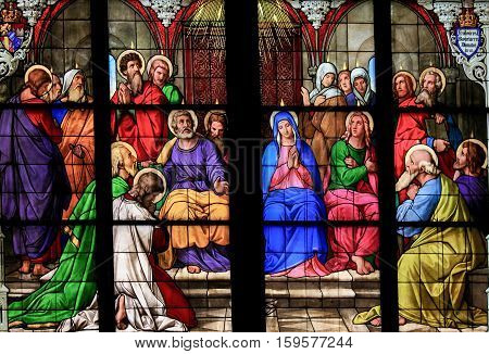 Pentecost Window In Cologne Cathedral