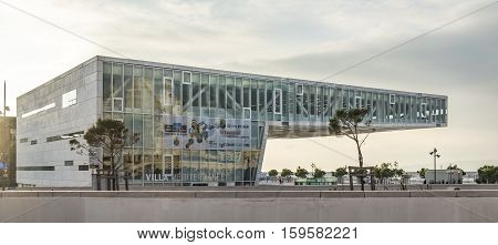 Front View Of Villa Mediterranee, An International Center For Cultural And Artistic Interchange