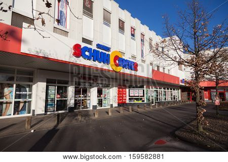 HANNOVER / GERMANY - NOVEMBER 27 2016: Siemes Schuhcenter ( shoe center ) store. Siemes Schuhcenter GmbH & Co KG based in Moenchengladbach is a family-run company in the shoe trade.