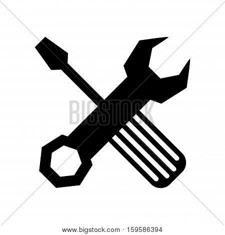 wrench and screwdriver tool icon image vector illustration design