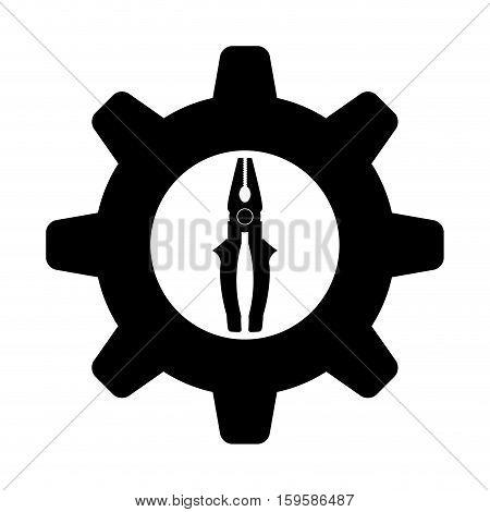 pliers tool icon image vector illustration design