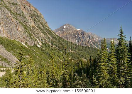 Mountain peaks. Canadian Rockies, Banff National Park