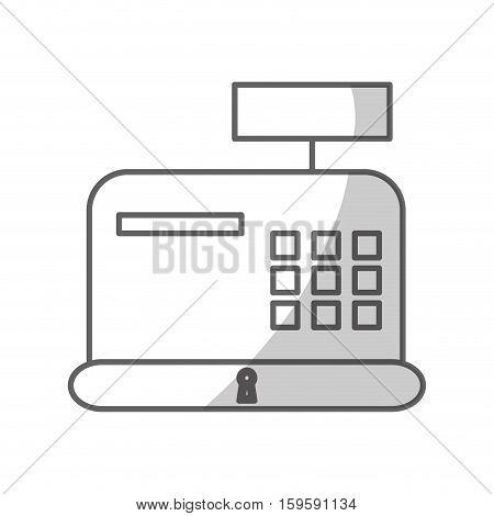 cash register machine icon over white background. vector illustration