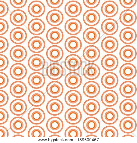 Cute seamless background with abstract orange circles (EPS10)