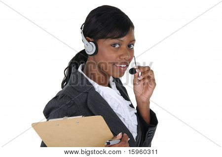 Attractive Business Woman With Headset 01