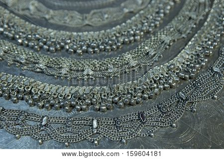Silver jewelry. Lots of Beautiful Oriental Silver Gold (Indian Arab African). Fashion Ethno Accessories Asian Bridal jewelry. Tribal Moroccan belly Dance Jewelry. Necklace Earrings Bracelets