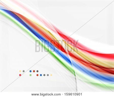 Modern hi-tech glossy glass wave, vector background