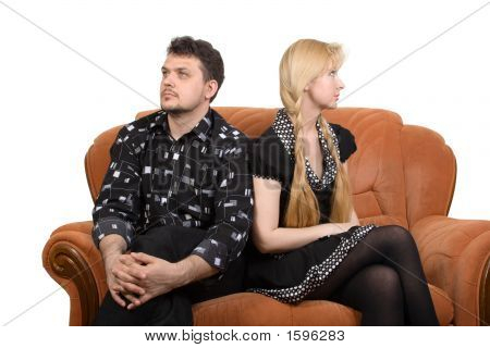 Adult Couple On The Sofa