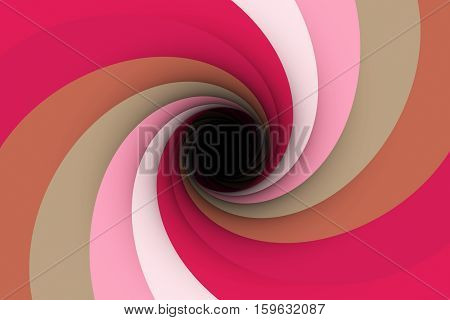 black hole in a raspberry colour 3D illustration