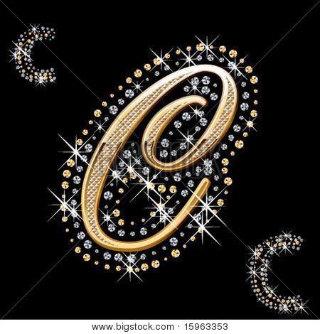 glänzend Gold und Diamant-Brief