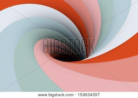 black hole in pink color 3D illustration