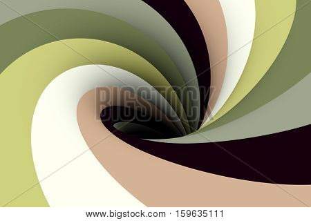 black hole in the pale green color 3D illustration