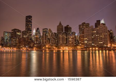 Downtown Manhattan At Night, Nyc