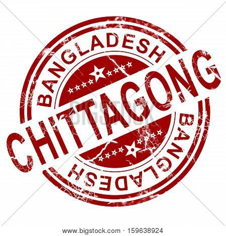 Red Chittagong Stamp