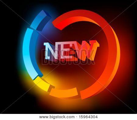 NUEVO símbolo colorido vector abstracto