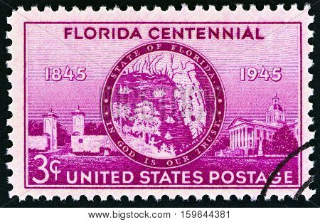 USA - CIRCA 1945: A stamp printed in USA from the