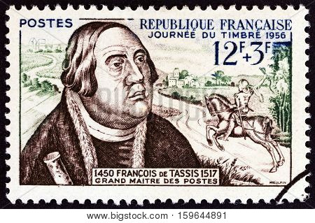 FRANCE - CIRCA 1957: A stamp printed in France from the