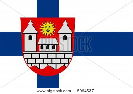 Flag of Hameenlinna in Southern Finland is a province of Finland