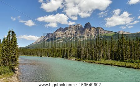 Castle mountains - Canadian Rocky Mountains. Canada