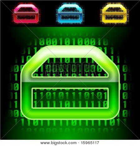Futuristic digital alphabet. With transparency effect.