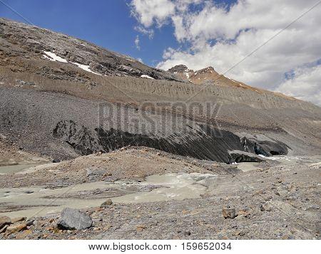 Columbia Icefield glacier, Rocky Mountains, Canada, Alberta