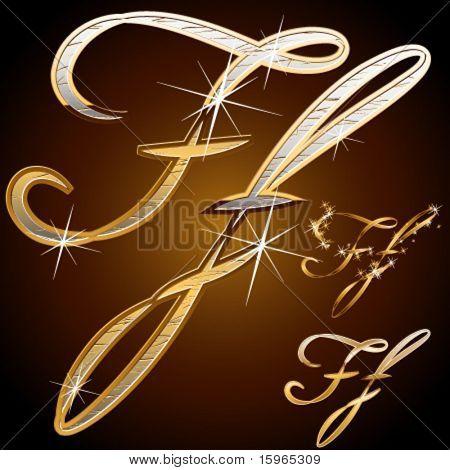 Original luxury typeface. Character f