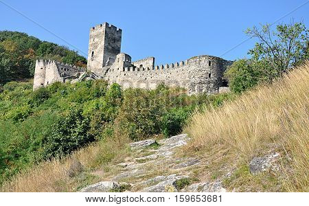 ruins of a castle in Spitz, Austria, Europe