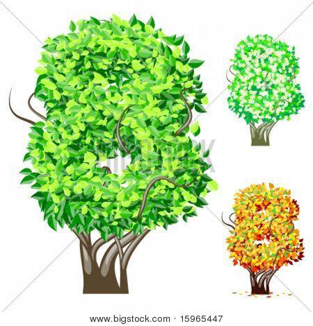 Vektor-Illustration eine zusätzliche detaillierte Baum Alphabet Symbole. Leicht abnehmbare Krone. Zeichen 8