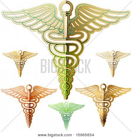 Abstract medical symbol. Vintage style