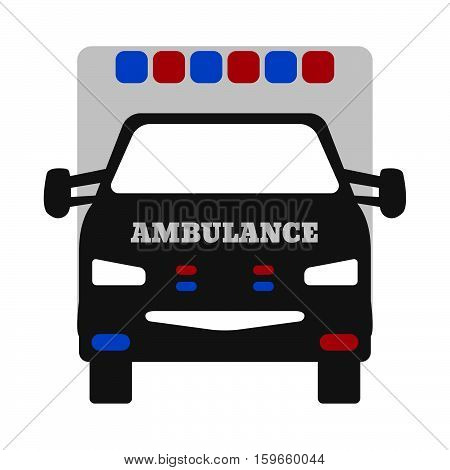 Ambulance Car. Elements Of The Ambulance Equipment Icons. Vector Illustration.