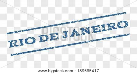 Rio De Janeiro watermark stamp. Text caption between parallel lines with grunge design style. Rubber seal stamp with unclean texture.
