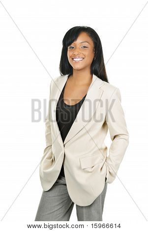 Smiling Confident Black Businesswoman