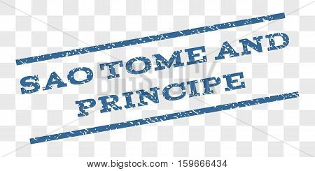 Sao Tome and Principe watermark stamp. Text caption between parallel lines with grunge design style. Rubber seal stamp with dirty texture.