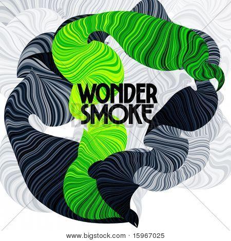 Wunder-Rauch. Geschwungenen Linien.