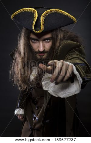 Pirate Pointing Into The Viewer