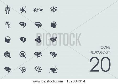 neurology vector set of modern simple icons