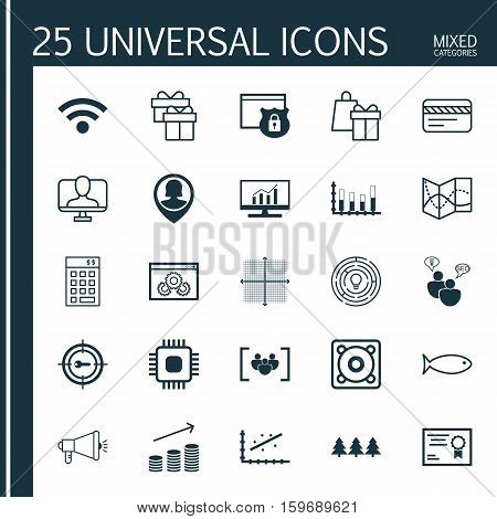 Set Of 25 Universal Editable Icons. Can Be Used For Web, Mobile And App Design. Includes Elements Such As Investment, Keyword Marketing, SEO Brainstorm And More.