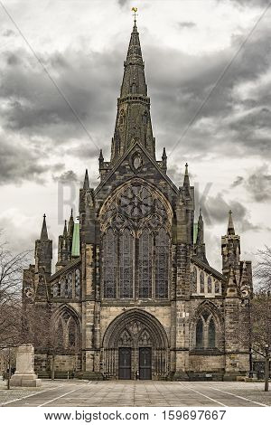 Glasgow St Mungo's Cathedral. Founded in the 12th century it was one of the few Scottish church buildings to survive the Reformation relatively unscathed.